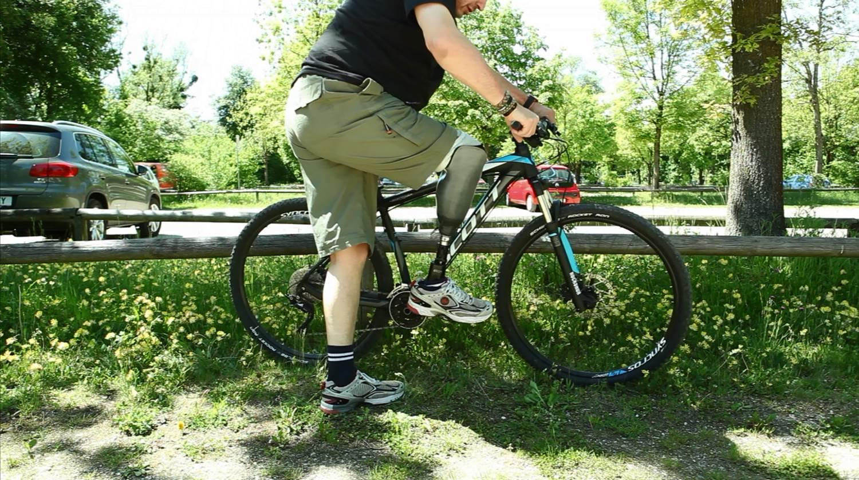 Prothetik mit Fahrrad