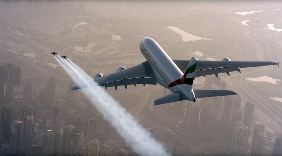 Two Jetmen Airbus 380