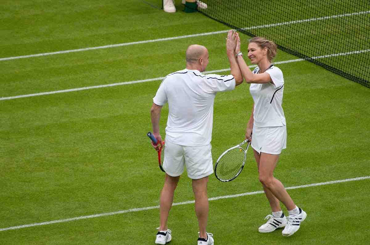 Graf Agassi Wimbledon