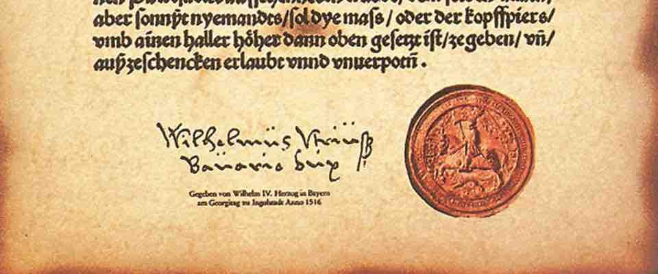 160422 500 Jahre Reinheitsgebot Urkunde small