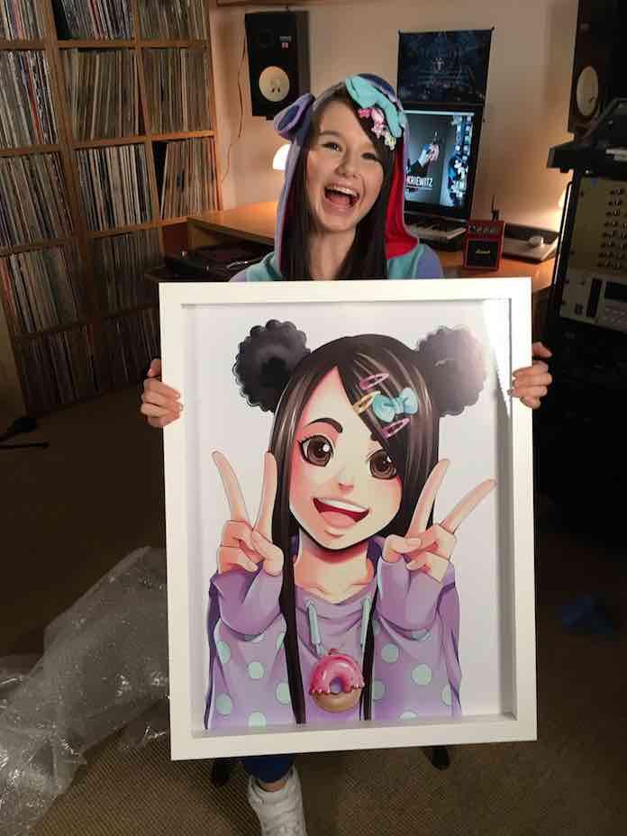 160513 Jamie mit Manga-Zeichnung