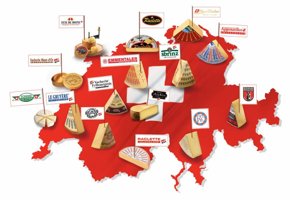 スイスチーズには約450もの種類がある。